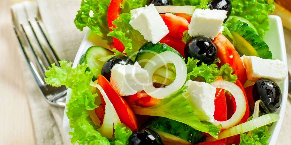Traditional Greek Salad with Lettuce